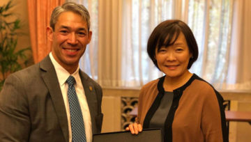 Tokyo: SCI Chair Nirenberg Meets with Japan's First Lady Abe